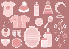 Baby set. Design element. Royalty Free Stock Images