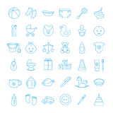 Baby set icons Royalty Free Stock Photography