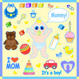 Baby set  illustration. Stock Images