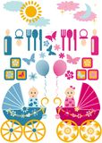 Baby set vector Stock Image