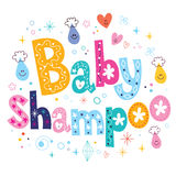 Baby shampoo decorative lettering type design Royalty Free Stock Images