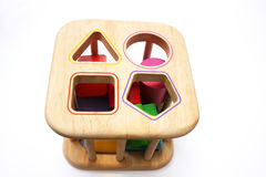 Baby shape puzzle toy royalty free stock images