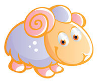 Baby sheep cartoon Royalty Free Stock Image