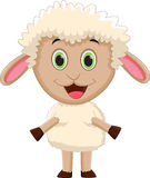 Baby sheep cartoon standing Royalty Free Stock Photos