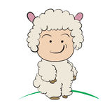 Baby in Sheep  Costume  : done in a hand-drawn  illustrati Stock Photo