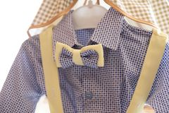 Baby shirt with bow stock photos