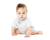 Baby in a shirt creeps Royalty Free Stock Photo