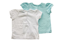 Baby shirts isolated on white Royalty Free Stock Photos