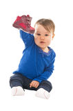 Baby with shoe Stock Photography