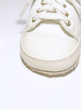 Baby shoe. Single baby shoe royalty free stock images