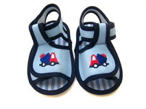Baby Shoe. Pair of baby shoe for infants Stock Image