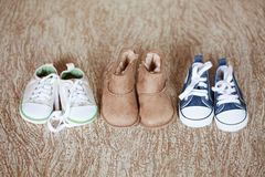 Baby shoes Stock Image