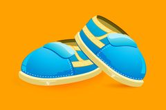 Baby Shoes. Illustration of pair of baby shoes on bright background Royalty Free Stock Image