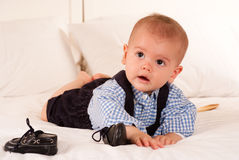 Baby and shoes Royalty Free Stock Photos