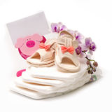 Baby shoes Stock Photos