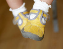 Baby shoes Stock Images