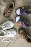 Baby shoes. Background conceptual family Royalty Free Stock Image