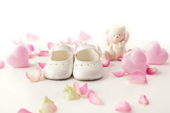 Baby shoes. Close-up of baby shoes Stock Photos
