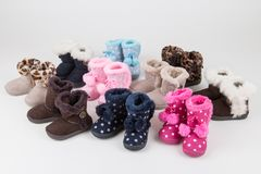 Baby shoes collection Stock Images