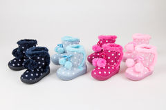 Baby shoes collection Stock Image