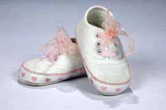 Baby Shoes With Fancy Laces Royalty Free Stock Photos