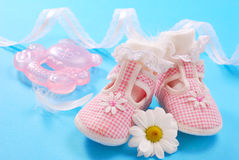 Baby shoes for girl Royalty Free Stock Photo
