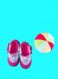 Baby shoes for girls Royalty Free Stock Photo