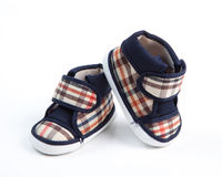 Baby shoes. Isolate on white background Royalty Free Stock Photo
