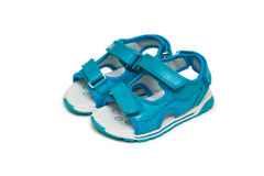The baby shoes isolated on the white background Stock Images