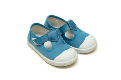 The baby shoes isolated on the white background Royalty Free Stock Image
