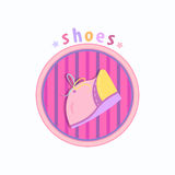 Baby shoes with laces vector Royalty Free Stock Photos