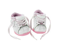 Baby shoes relaxed Royalty Free Stock Image