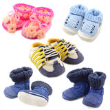 Baby shoes set Royalty Free Stock Images