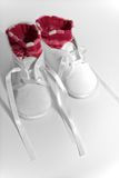 Baby Shoes with Socks. Photo of a pair of baby shoes with socks ready to take the first steps Royalty Free Stock Images