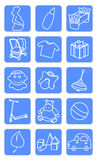 Baby shop icons. Vector illustration of baby icons Royalty Free Stock Images
