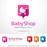 Baby-Shop Logo Template Design Vector Stockfotos