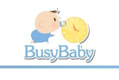 Baby shoppar logo Royaltyfri Illustrationer