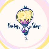 Baby shoppar logo Royaltyfri Bild