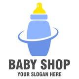 Baby shoppar logodesign Arkivfoton