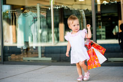 Baby shopping Royalty Free Stock Photos