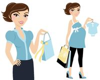 Baby shopping woman Royalty Free Stock Photography