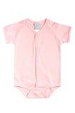 Baby short-sleeve bodysuit Stock Photo