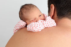 Baby  on shoulder Royalty Free Stock Image