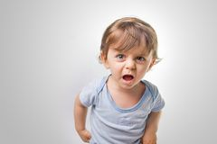 Baby shouting Royalty Free Stock Images