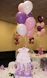 Baby shower. A table decorated for a baby shower Stock Image