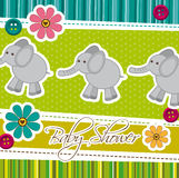 Baby shower. Card with cute elephants, background. vector vector illustration