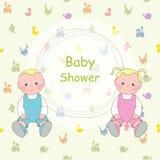 Baby shower stock illustrationer