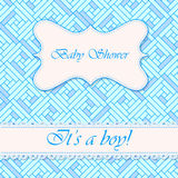 Baby shower abstract background boy Stock Images