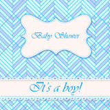 Baby shower abstract background boy Stock Image