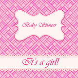 Baby shower abstract background girl Royalty Free Stock Images